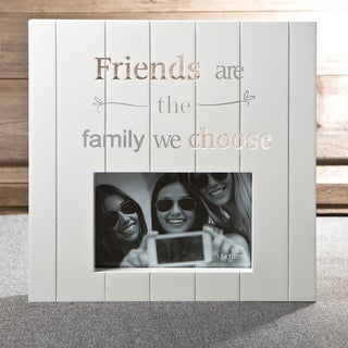White Laser-cut Wood Friends Frame