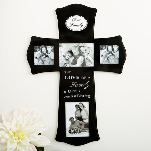 Shop Our Family Wood Cross Collage Frame - Free Shipping On Orders ...