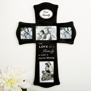 Our Family Wood Cross Collage Frame