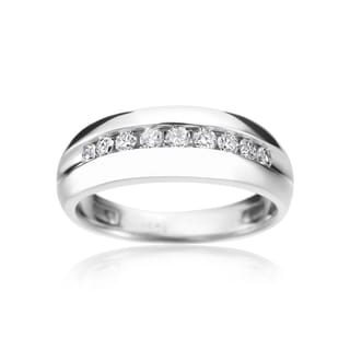 SummerRose 14k White Gold 1/2-carat TDW Men's Ring