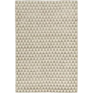 eCarpetGallery Javier Gray/Green Polyester Handmade Rug (4'7 x 6'7)