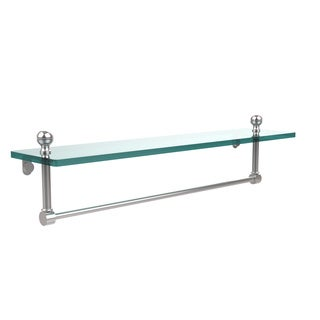 Allied Brass Mambo Glass 22-inch Vanity Shelf with Integrated Towel Bar