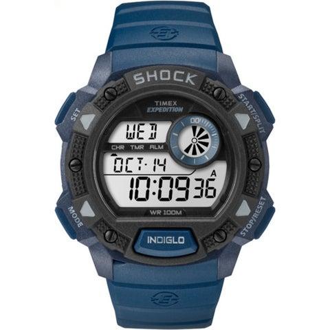 Timex Men's Expedition Blue/Black Base Shock Watch - BLue