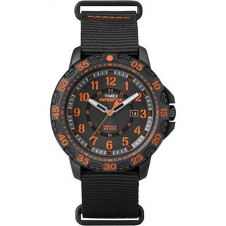 Timex TW4B052009J Expedition Gallatin Black/Orange Nylon/Resin/Acrylic/Stainless Steel Slip-thru Men's Strap Watch