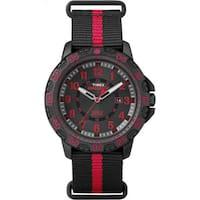Timex  Expedition Gallatin Black and Red Nylon Slip-thru Men's Strap Watch