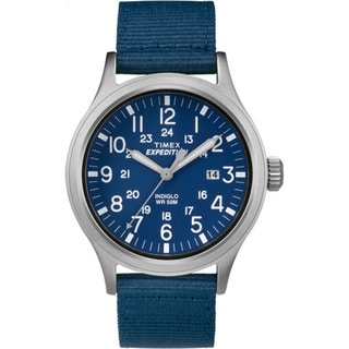 Timex TW4B070009J Men's Scout Blue Stainless Steel/Nylon Strap Expedition Watch