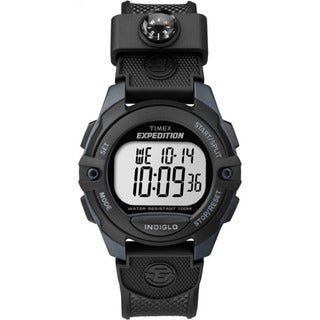 Timex Men's Expedition Black/Gray Resin Digital CAT Strap Watch