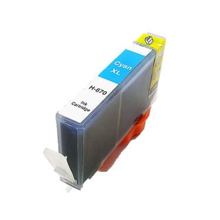 1PK Compatible 670XL C (CZ118AL ) Ink Cartridge For HP DESKJET 3520 5520 4615 4625 6525 ( Pack of 1 )