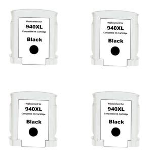 4PK Compatible 940 XL BK (C4906AN) Ink Cartridge For HP Officejet Pro 8000 Officejet Pro 8500 ( Pack of 4 )