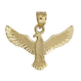 14-karat Yellow Gold Spread Eagle Dangling Pendant