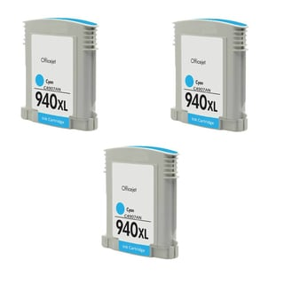 3PK Compatible 940XL C (C4907AN) Ink Cartridge For HP Officejet Pro 8000 Officejet Pro 8500 ( Pack of 3 )
