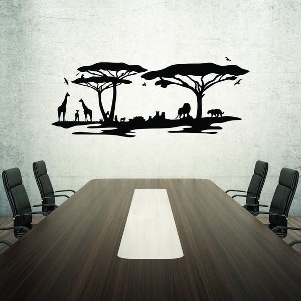 Shop Style And Apply African Savannah Vinyl Home Decor Wall Decal Beauteous Home Interiors Store Style