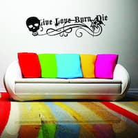Style and Apply Quotes and Sayings Vinyl 'Live Love Burn' Wall Decal