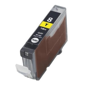1PK Compatible CLI-8Y Ink Cartridge For Canon PIXMA IP4200 5200 6600D 6700D MP500 MP800 ( Pack of 1 )