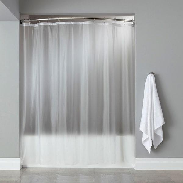 Shop Heavy Weight 13 Gauge PEVA Shower Liner With Reinforced Mesh ...
