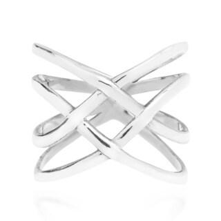 Handmade Exotic Puzzle Weave Quad Band Sterling Silver Ring (Thailand) (4 options available)