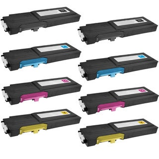 8PK Compatible Dell C2660 BK CMY 2Set ( 593-BBBU BT BS BR ) Toner Cartridge For Dell 2660 2665 C2660DN C2665DNF ( Pack of 8 )