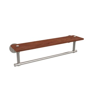 "Allied Brass Washington Square Collection Ironwood 22-inch Shelf with Integrated Towel Bar - 22""L x 4""H x 5""D"