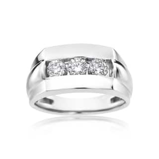 SummerRose 14k White Gold 1-carat Diamond Men's Ring|https://ak1.ostkcdn.com/images/products/11991817/P18871713.jpg?impolicy=medium