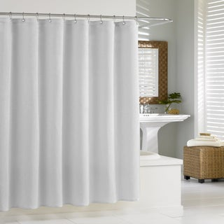 Silver Shower Curtains - Overstock.com - Vibrant Fabric Bath Curtains