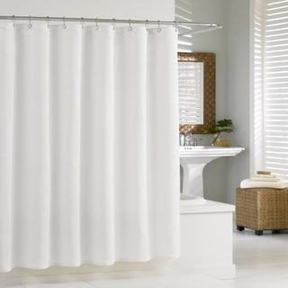 "Hotel Quality Jacquard Textured Fabric Shower Curtain/Liner (70""x72"") - Assorted Colors"