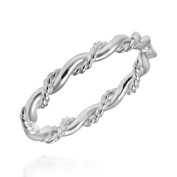 Fine Rings Jewelry & Watches Pure Silver Heavy Chain Spiral Wire Braided Intricate Fine Ring Handmade Size 7