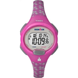 Timex Women's Pink Resin and Acrylic Digital Ironman Watch