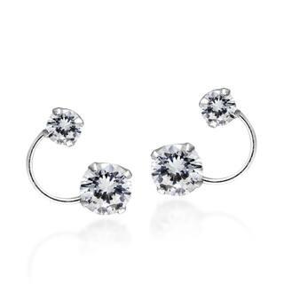 Handmade Bright Silver Orbit Cubic Zirconia Crawler Sterling Silver .925 Stud Earrings (Thailand)|https://ak1.ostkcdn.com/images/products/11991905/P18871735.jpg?impolicy=medium