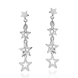 Trail of Stars Sterling Silver .925 Post Dangle Earrings (Thailand)