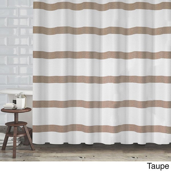 brown waffle shower curtain. Hotel Quality Waffle Weave Stripe Fabric Shower Curtain  70 x72 Assorted Colors Free Shipping On Orders Over 45 Overstock com 18871719