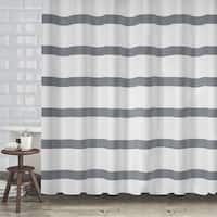 "Hotel Quality Waffle Weave Stripe Fabric Shower Curtain (70""x72"") - Assorted Colors"