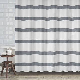 "Hotel Quality Waffle Weave Stripe Fabric Shower Curtain (70""x72"") - Assorted Colors (5 options available)"