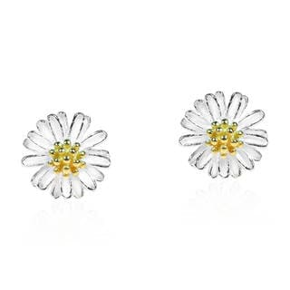 Mini Daisy 14k Gold Vermeil and 925 Silver Post Earrings (Thailand)