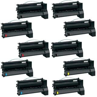 10PK Compatible ( 2Set+2BK ) C780H4KG C780H4CG C780H4MG C780H4YG Toner Cartridge For Lexmark C780DN C780DTN C780N ( Pack of 10 )