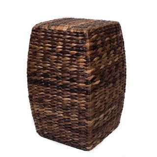 BirdRock Home Honey Seagrass Rattan 21-inch Accent Stool