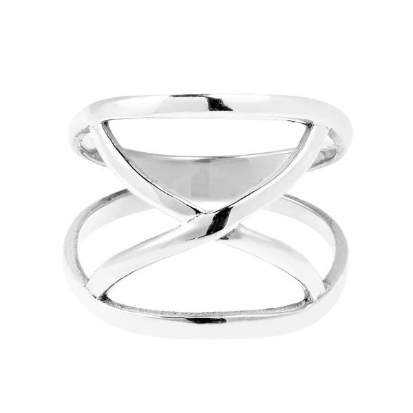 Stainless Steel 2 Color Infinity Geometric Cushion Modern Ring