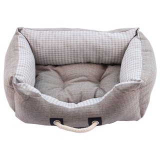 Purrrfect Life Polyester/Linen Cat or Dog Bed