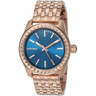 Diesel Women's DZ5509 'Kray Kray' Rose-Tone Stainless Steel Watch|https://ak1.ostkcdn.com/images/products/11992091/P18871895.jpg?impolicy=medium