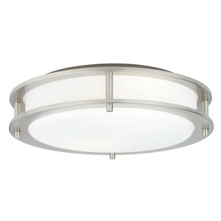 2-Light Satin Nickel Semi-Flush Mount