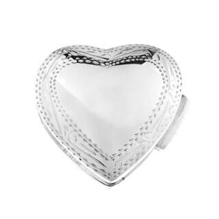 Handmade Sweet Memories Heart Silver .925 Keepsake Pill Gift Box (Thailand)