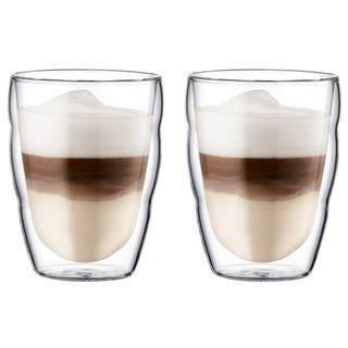 Bodum Pilatus Clear 8-ounce 2-piece Small Double Wall Glass