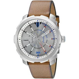 Diesel Men's DZ1736 'Machinus NSBB' Brown Leather Watch