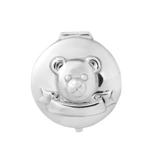 Handmade Baby Teddy Bear Sterling Silver Pill Gift Box Keepsake (Thailand)