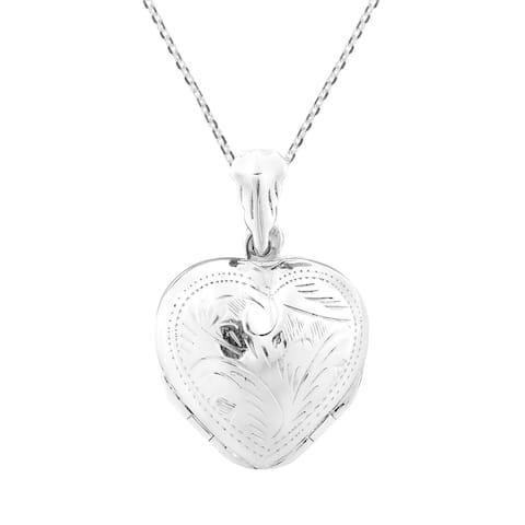 Handmade 4 Layer Lucky Heart Locket Pendant .925 Silver Necklace (Thailand)