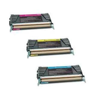 3PK Compatible X746A2CG X746A2YG X746A2MG Toner Cartridge For Lexmark C746DN C746DTN C746N C748DE ( Pack of 3 )
