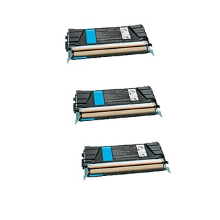 3PK Compatible X746A1CG Toner Cartridge For Lexmark C746DN C746DTN C746N C748DE ( Pack of 3 )