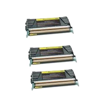 3PK Compatible X746A1YG Toner Cartridge For Lexmark C746DN C746DTN C746N C748DE ( Pack of 3 )