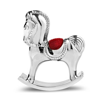 Handmade Royal Rocking Horse.925 Silver Keepsake Figurine (Thailand)