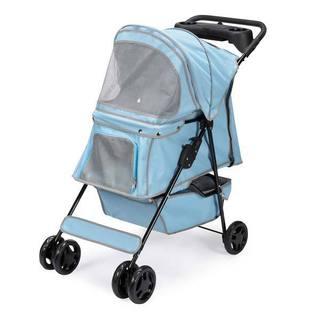 Guardian Gear Promenade Blue Polyester, Metal Pet Stroller