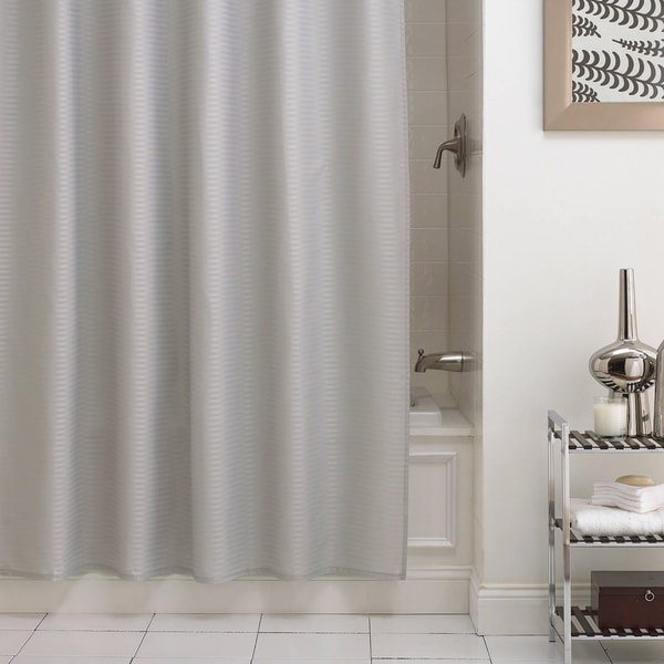 "Pinstripe Premium Fabric Shower Curtain/Liner (70""x72"") - Assorted Colors"